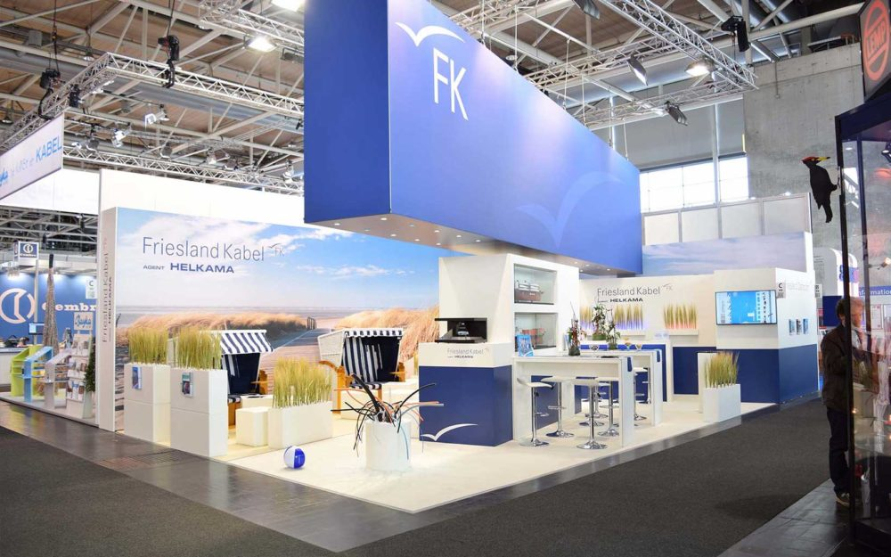 Frieslandkabel Messestand - hmb messebau