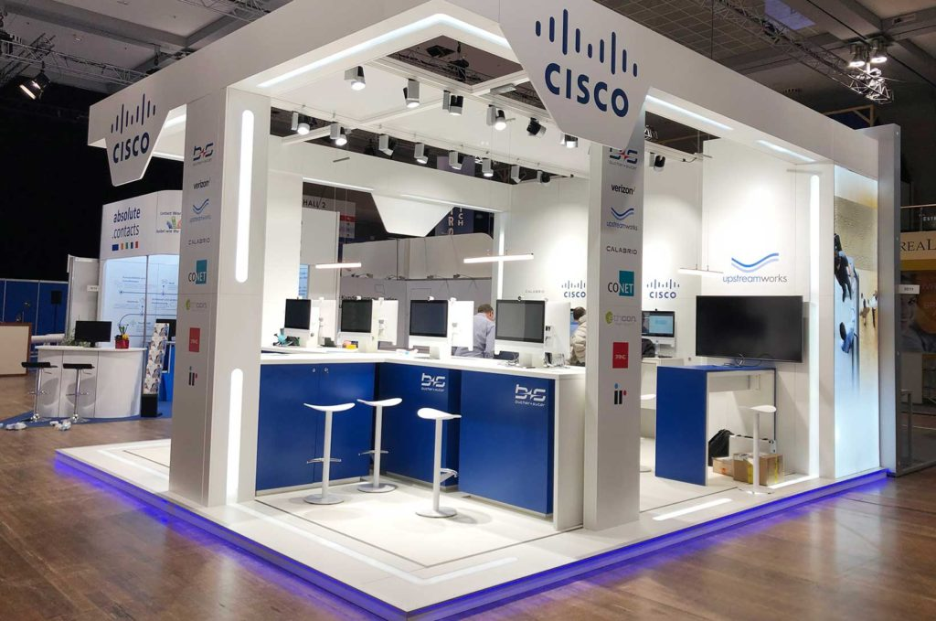 Cisco Messebau in Berlin